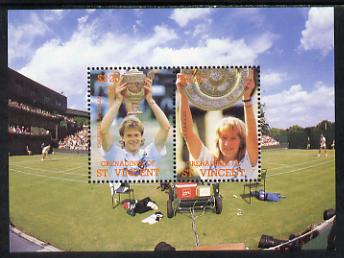 St Vincent - Grenadines 1988 International Tennis Players m/sheet unmounted mint SG MS 590