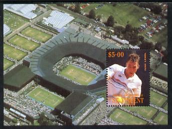 St Vincent - Bequia 1988 International Tennis Players $5 m/sheet (Ivan Lendl) unmounted mint