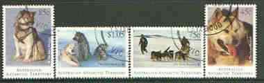 Australian Antarctic Territory 1994 Departure of Huskies set of 4 very fine used, SG 104-107