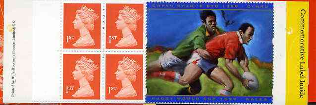 Booklet - Great Britain 1999 Booklet containing 4 x 1st class stamps plus Rugby World Cup Commemorative label. pristine