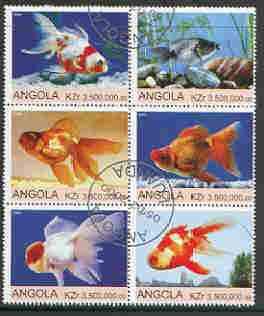 Angola 2000 Ornamental Fish set of 6 very fine cto used