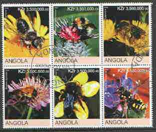 Angola 2000 Bees set of 6 very fine cto used