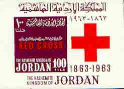 Jordan 1963 Centenary of Red Cross imperf m/sheet unmounted mint, SG MS 558