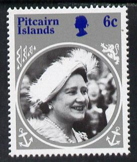 Pitcairn Islands 1985 Life & Times of HM Queen Mother 6c with wmk inverted unmounted mint SG 268w (gutter pairs price x2)