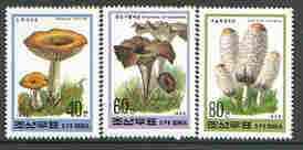 North Korea 1995 Fungi #02 perf set of 3 values, unmounted mint, SG N3525-27*