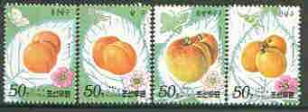 North Korea 1996 Apricots perf set of 4 unmounted mint SG N3659-62*