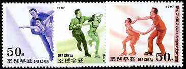 North Korea 1997 Figure Skating Championships perf set of 3 unmounted mint, SG N3654-56*