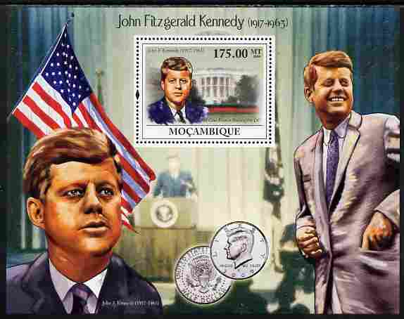 Mozambique 2009 John F Kennedy perf s/sheet unmounted mint
