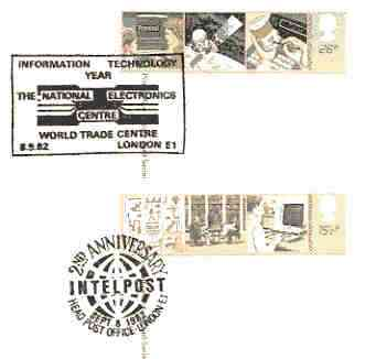 Great Britain 1982 Information Technology set of 2 PHQ cards with appropriate stamps each very fine used with first day cancels