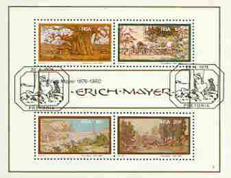 South Africa 1976 Birth Centenary of Erich Mayer (Artist) m/sheet containing set of 4 very fine used, SG MS 403