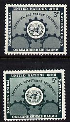 United Nations (NY) 1953 Technical Assistance set of 2 unmounted mint (SG 19-20)