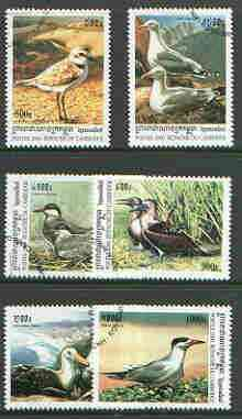 Cambodia 2000 Sea Birds complete perf set of 6 values cto used SG 2018-23