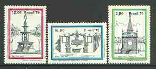 Brazil 1979 'Braziliana 79' Thematic Stamp Exhibition (4th issue - Fountains) set of 3, SG 1788-90
