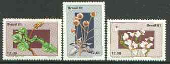 Brazil 1981 Flowers of the Central Plateau set of 4, unmounted mint, SG 1916-19