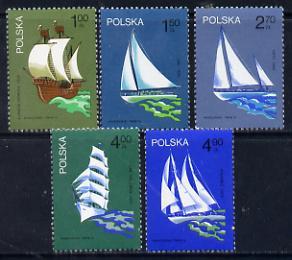Poland 1974 Sailing Festival set of 5 unmounted mint (SG 2304-8)*
