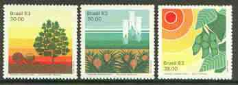 Brazil 1983 Agriculture Research set of 3 unmounted mint, SG 2009-11