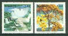 Brazil 1978 Environment Protection, Iguacu Falls National Park set of 2 unmounted mint, SG 1727-28