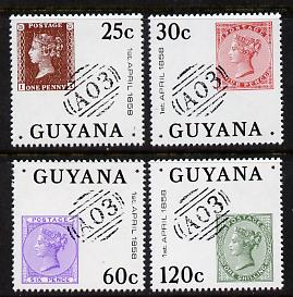 Guyana 1983 Stamp Anniversary set of 4 unmounted mint, SG 1172-5