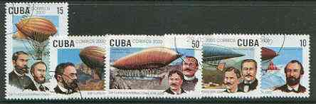 Cuba 2000 WIPA 2000 Stamp Exhibition (Zeppelin Airships) perf set of 5 fine cto used