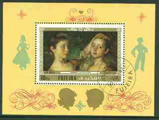 Fujeira 1972 Paintings with Children perf m/sheet (Gainsborough) fine cto used, Mi BL 93A