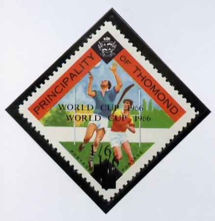 Thomond 1966 Hurling 3d (Diamond shaped) unmounted mint surcharged 1s6d World Cup 1966 opt doubled*