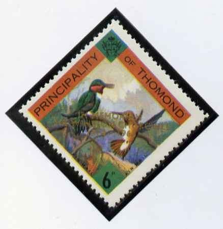 Thomond 1965 Humming Birds 6d (Diamond-shaped) with 'Sir Winston Churchill - In Memorium' overprint in gold unmounted mint*