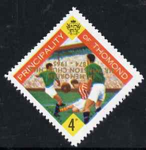 Thomond 1965 Football 4d (Diamond shaped) with 'Sir Winston Churchill - In Memorium' overprint in gold with opt inverted unmounted mint*
