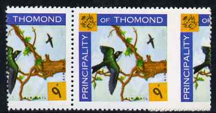 Thomond 1960 Martin 9d (Diamond-shaped) def unmounted mint pair with outer perfs misplaced by 11 mm