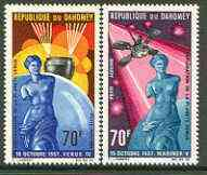 Dahomey 1968 Exploration of Planet Venus set of 2 unmounted mint, SG 315-16*