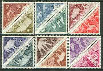Chad 1962 Postage Due - Animals triangular shaped set of 12 unmounted mint, SG D89-100