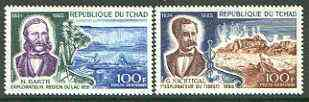 Chad 1969 Explorers set of 2 unmounted mint, SG 222-23*