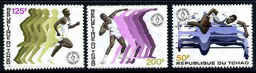 Chad 1973 African Games set of 3 unmounted mint, SG 396-98*