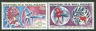 Malagasy Republic 1974 Table Tennis Championships set of 2 unmounted mint, SG 273-74*
