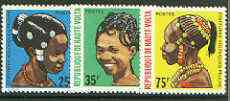 Upper Volta 1972 Native Hair Styles set of 3 unmounted mint, SG 373-75*