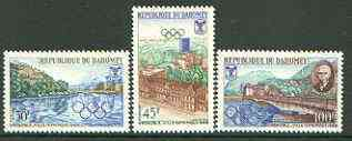 Dahomey 1967 Grenoble Winter Olympic Games set of 3 unmounted mint, SG 303-05*