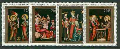 Dahomey 1970 Christmas (Miniature Paintings) set of 4 unmounted mint, SG 423-26*