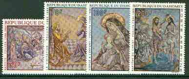 Dahomey 1968 Christmas (Paintings by Foujita) set of 4 unmounted mint, SG 348-51*
