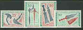Gabon 1970 Folk art museum (Weapons) set of 4 unmounted mint, SG 387-90*