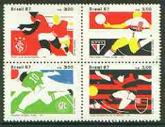 Brazil 1987 Football Championships se-tenant block of 4 unmounted mint, SG 2284-87