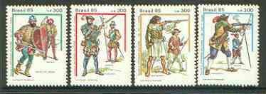 Brazil 1985 Military Dress set of 4 unmounted mint, SG 2184-87