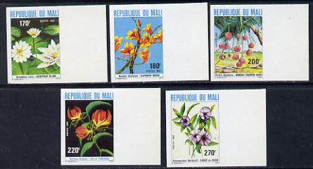 Mali 1982 Flowers set of 5 imperf from limited printing (as SG 900-4) unmounted mint