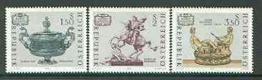 Austria 1971 Art Treasures (1st series) set of 3 unmounted mint, SG 1605-07