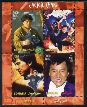 Somalia 2004 Jackie Chan perf sheetlet containing 4 values unmounted mint