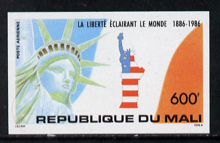 Mali 1986 Statue of Liberty 600f imperf from limited printing unmounted mint (as SG 1092)
