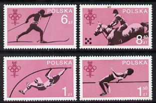 Poland 1979 Olympic Committee set of 4 unmounted mint (SG 2600-3)*