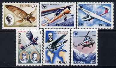 Poland 1978 Aviation History set of 6 unmounted mint (SG 2538-43)*