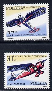 Poland 1982 Aircraft Challenge Competition set of 2 unmounted mint, SG 2808-9*