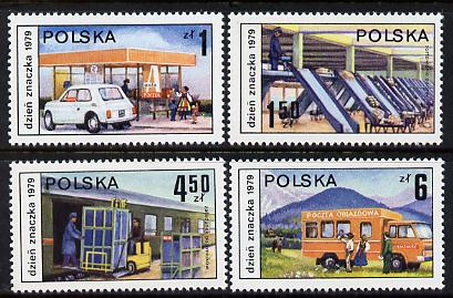 Poland 1979 Stamp Day set of 4 unmounted mint (SG 2638-41)*
