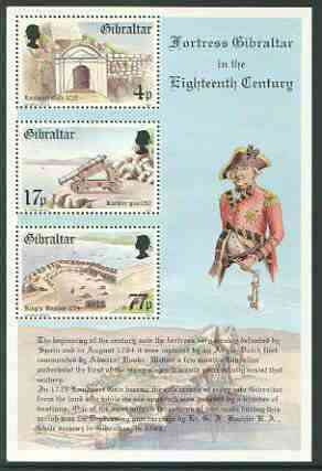 Gibraltar 1983 Fortress Gibraltar in the 18th Century m/sheet unmounted mint, SG MS 500