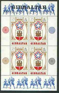 Gibraltar 1976 Bicentenary of American Revolution m/sheet unmounted mint, SG MS 362